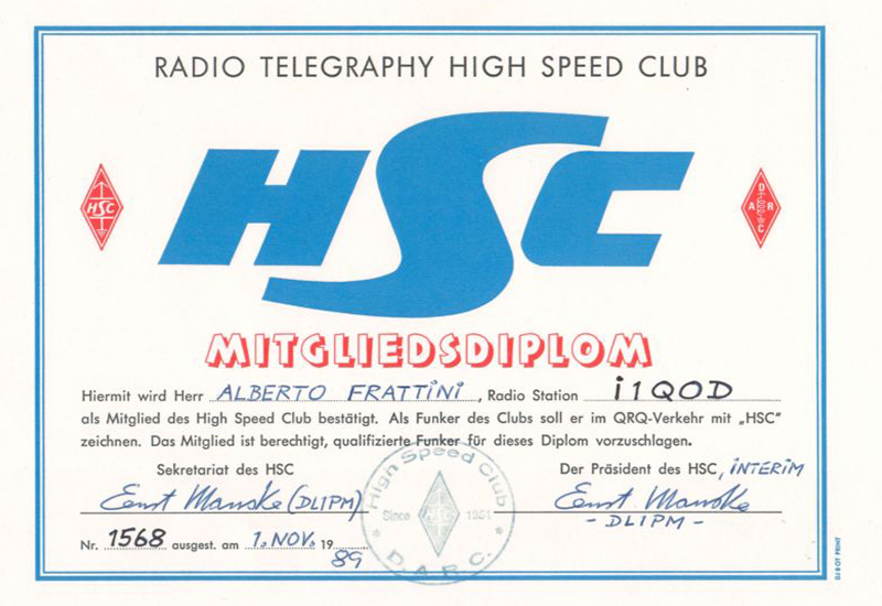 HSC Radio Telegraphy