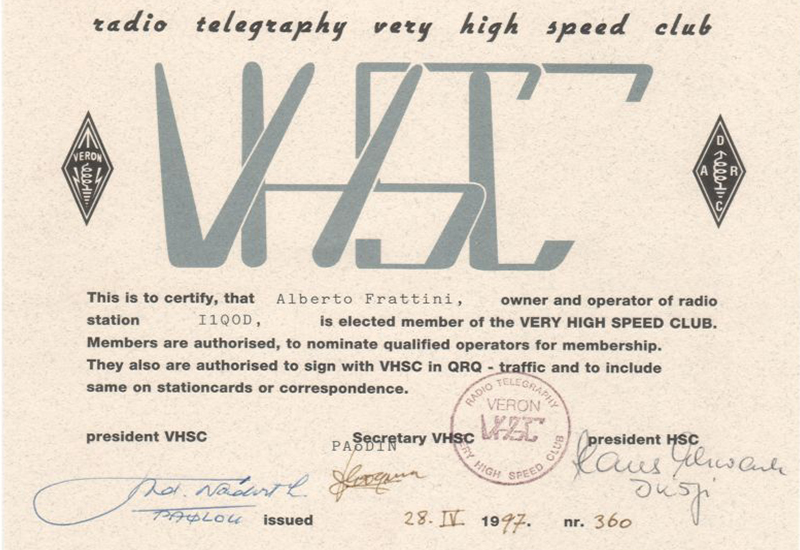 VHSC Radio Telegraphy
